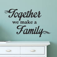 Together Family quote decals