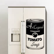 Tomato Soup Decal Fridge Skins