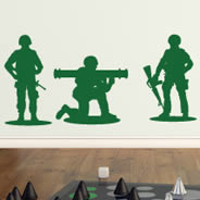 Toy Soldiers wall decal pack