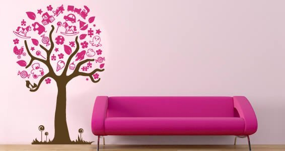 Toys Magic Tree wall stickers