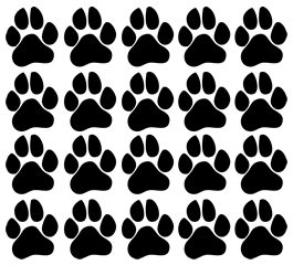 Cutie Paws Prints car decal