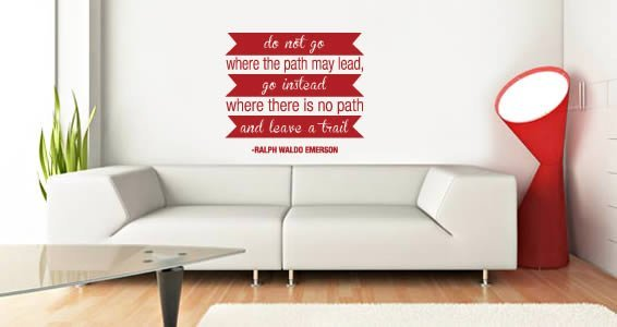 Trail quote decals