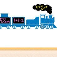 Funny Train chalkboard wall stickers