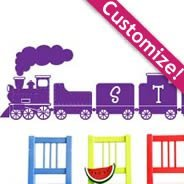 Custom Lettering Train wall decals
