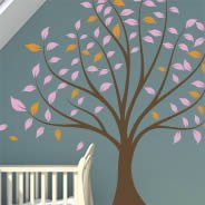 Tranquility tree wall stickers