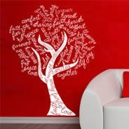 Tree Word Art wall stickers
