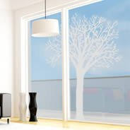 Tree frosted window stickers