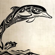 Tribal Dolphin wall decals