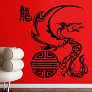 Mythical Dragon wall decals