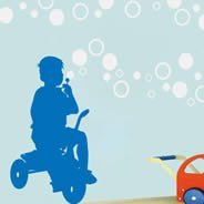 Tricycle Bubble children wall decals