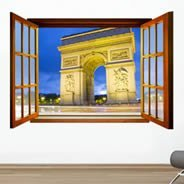 Paris Triumph Arch Fake Window Murals