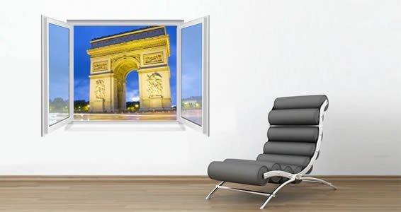 Paris Triumph Arch Fake Window Murals