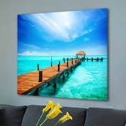 Tropical Sea Paradise wall canvas