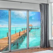 Polynesian Paradise see through  window decals