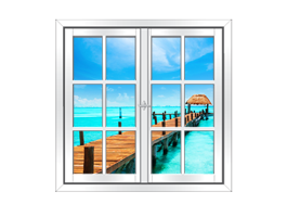 Tropical Sea Paradise Faux Window Murals