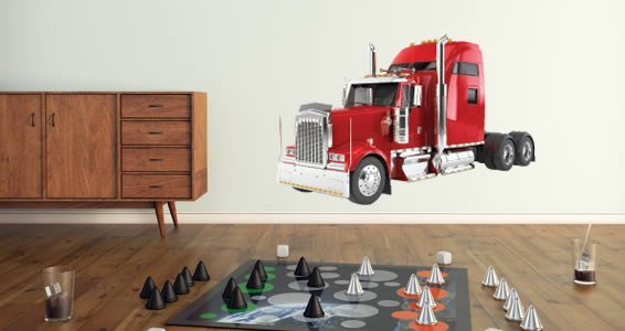 Trucks wall decals