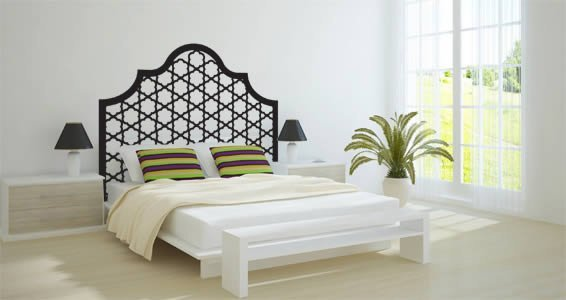 Delightful Tufted Headboard Wall Decals