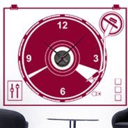 Vinyl TurnTable Clock wall decal