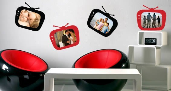MyTV! picture frames stickers