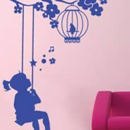 Tweety Girl wall stick ons