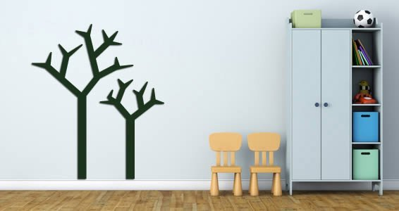 Twin Tree Trunk appliques