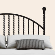 Twisted Iron Rod Headboard wall decal