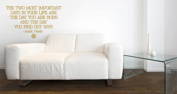 Two Days quote decal