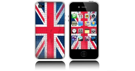 U.K. Flag  iPhone decals skins