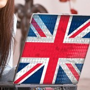 U.K. Flag laptop decals skin