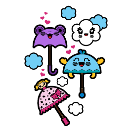 It's Raining Umbrellas! wall decals