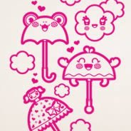 Umbrella wall stickers