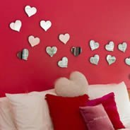 Hearts Wall Mirrors