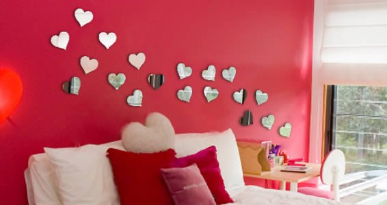 wall mirror hearts