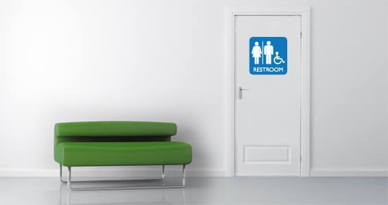 ADA Unisex Restroom Sign decal