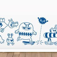 Crazy Monsters wall stickers for babies rooms