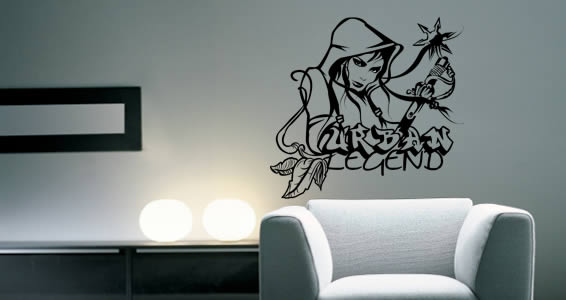 Oueche Tavu! urban wall stickers