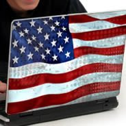 U.S. Flag laptop decals skin