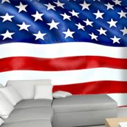 American flag wall murals