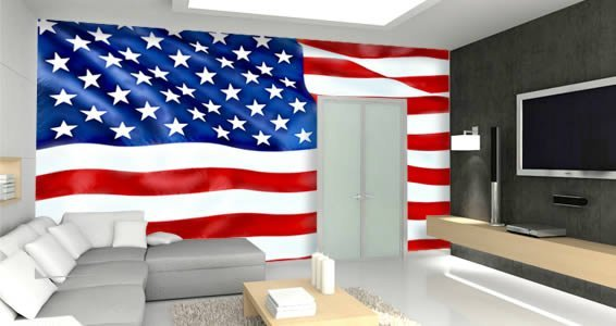 American flag wall murals dezign with a z for American flag wall mural