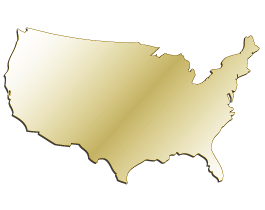 USA Map Wall Mirrors Dezign With A Z - Map of gold in us