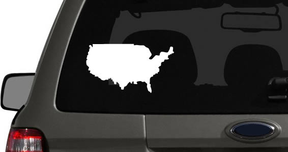 World countries car decals