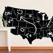 USA Map chalkboard wall decals