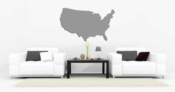 USA Map wall appliques