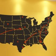 USA Map chalkboard wall stickers