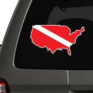 SCUBA World Countries car decals
