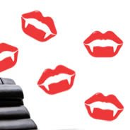Vampire lips wall decals