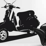 Vintage Scooter wall decals