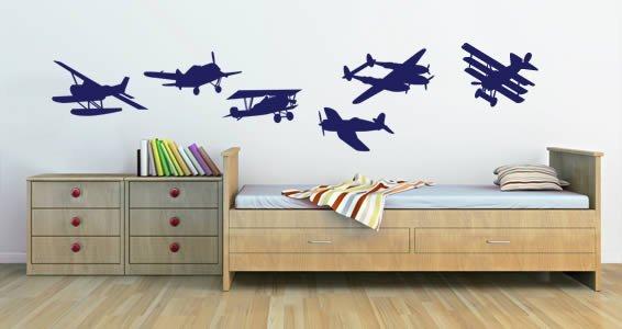 Vintage Airplane wall decals