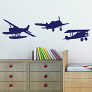 Vintage Airplane wall decals