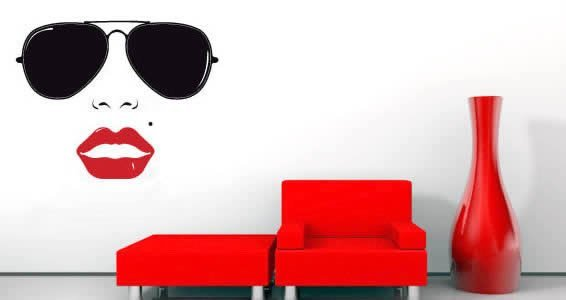 Vintage Sunglass wall decals